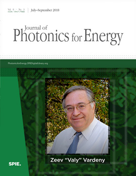 Valy Vardeny Honored with Publication of Special Section, or Festschrift, by Journal of Photonics for Energy